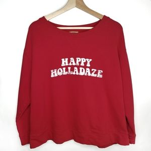 "True Craft ""Happy Holladaze"" Christmas Sweatshirt"